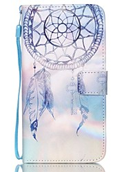 cheap -For Samsung Galaxy Case Wallet / Card Holder / with Stand / Flip / Embossed Case Full Body Case Dream Catcher PU Leather SamsungS6 edge