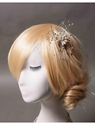 imitação de pérolas de strass de cabelo clip headpiece estilo feminino clássico