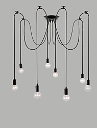 cheap -8 Lights Chandeliers / Pendant Lights Traditional/Classic / Retro Bedroom / Study Room/Office / Hallway E26/E27 Metal