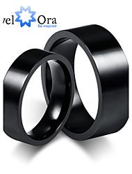 Anéis Fashion Pesta Jóias Aço Feminino Anéis Grossos 1pç,Tamanho Único Preto