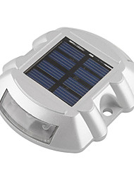 cheap -Aluminum Solar 6-LED Outdoor Road Driveway Dock Path Ground Light Lamp