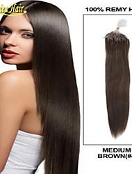 baratos -Melhores extensões de cabelo micro anel, vários links anel micro laço cor de trama do cabelo humano virgem de 100% brasileira reta 8a