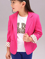 cheap -Girls' Daily Polka Dot Suit & Blazer Spring Fall Long Sleeves Dresswear Yellow Fuchsia
