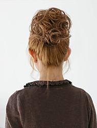 Недорогие -2 015 Новая мода синтетических эластичный невесты волосы булочки волосы шиньон роликовые Хепберн шиньоны волосы синтетический булочка