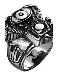 preiswerte -Herrn Edelstahl Ring - Modisch Punk Silber Ring Für Alltag Normal Sport