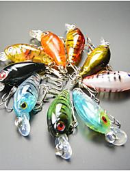 """economico -9 pc Esche rigide Esca Manovelle Multicolore g/Oncia,45 mm/1-3/4"""" pollice,Plastica duraPesca di mare Pesca dilettantistica Lenze trainate"""