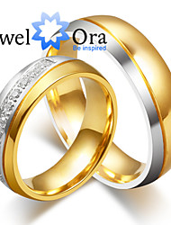 cheap -Men's Women's Couple Rings Band Rings Love Fashion Platinum Plated Steel Circle Jewelry Jewelry For Wedding Party Gift