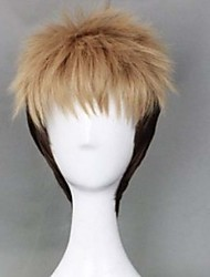 cheap -Fashion Color Cartoon Wig Male Yellow Mixed Color Short Wig