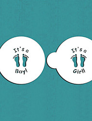 cheap -It's a Boy/Girl Cookie Top, Cupcake Stencil, Stencil for Cake Decorating,Cookie Stencil,ST-496