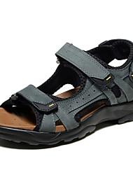 economico -Sandali da uomo primavera estate caduta comodo pelle nappa ufficio esterno&Carriera abito casual luce marrone scarpe acqua grigia