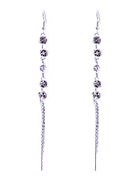 baratos -europestyle retro rose chain drop earrings estilo feminino clássico