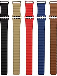 preiswerte -Uhrenarmband für Apple Watch Series 3 / 2 / 1 Apple Handschlaufe Lederschlaufe Echtes Leder