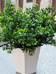 1 Piece Plastic Plants  Milan Grass  Artificial Flowers Green Engineering