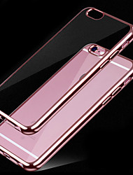 abordables -Para Funda iPhone 6 Cromado / Transparente Funda Cubierta Trasera Funda Un Color Suave TPU iPhone 7 Plus / iPhone 7 / iPhone 6s/6