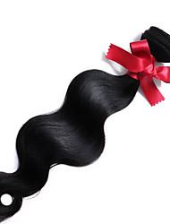 Недорогие -Малазийские волосы Классика Естественные кудри Ткет человеческих волос 1 шт. Высокое качество 0.1 Повседневные