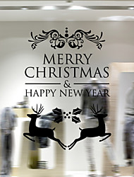 cheap -Christmas Decoration Wall Stickers Window Stickers Holiday Santa Claus Ornaments Christmas Trees Bells