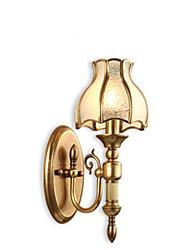 abordables -Style mini / Ampoule incluse Chandeliers muraux,Traditionnel/Classique E26/E27 Métal