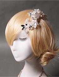 Недорогие -Имитация жемчужина горный хрусталь чистые волосы гребни головной убор элегантный стиль