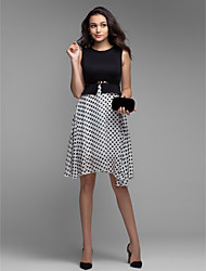 Žene Veći konfekcijski brojevi A kroj Haljina Na točkice