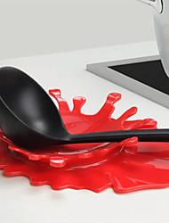 1 pcs respingo sangue mostarda colher resto pelo titular cozinha mostarda copo cozinhar auxílio (cor aleatória)