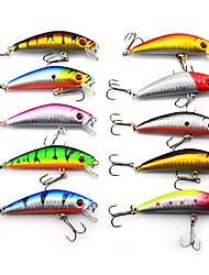 "cheap -10 pcs Hard Bait Minnow Lure kits Fishing Lures Hard Bait Lure Packs Minnow g / Ounce, 70 mm / 2-3/4"" inch, Hard Plastic Sea Fishing"
