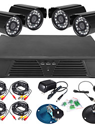 economico -szsinocam® 8ch piena DVR 960H e 4pcs 600TVLine all'aperto telecamere day / night