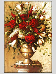 cheap -Oil Paintings Flower Style , Canvas Material with Stretched Frame Ready To Hang SIZE:60*90CM.