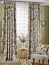 Country Curtains® Blackout Printing Flowers and Bird Curtains Drapes Two Panel