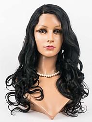 Недорогие -женщины бразильского Виргинские цвет волос (# 1 # 1B # 2 # 4) кружева волосы на теле волнового фронта парики