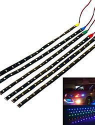 cheap -Jiawen 3.7W 300lm 15-3528 SMD LED Waterproof Car Decorative Lamp Strip(4 PCS)