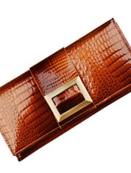 Women's Cowhide Purse Day Clutch / Wallet / Card & ID Holder / Coin Purse Clutch with Box Packing