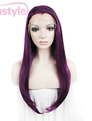 """IMSTYLE 24"""" Purple Synthetic  Silky Straight Lace Front Wig-N2"""