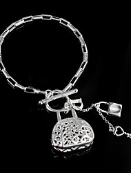 "Fashion ""Locks"" 925 Silver Party Chain & Link Bracelets For Woman&Lady"