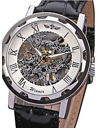 cheap -WINNER® Men's Watch Mechanical Skeleton Hollow Engraving Cool Watch Unique Watch