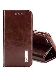 cheap -Top Grade Business Genuine Flip Leather for iPhone 7 7 Plus 6s 6 Plus SE 5s 5 4s 4