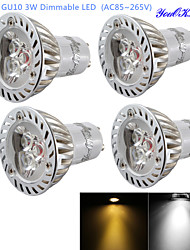 cheap -GU10 LED Spotlight R63 3 High Power LED 200 lm Warm White Cold White 3000/6000 K Dimmable Decorative AC 85-265 V