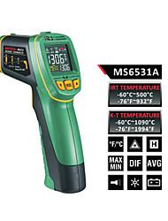 Недорогие -MASTECH ms6531a цветной экран Инфракрасный термометр (-60 ℃ до 500 ℃) датчик температуры типа К может быть подключен