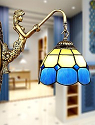 cheap -E27 220V 35*22CM 5-10㎡  Europe Type Restoring Ancient Ways Wall Lamp Creative Mediterranean Glass Led Lights