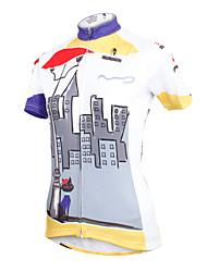 economico -ILPALADINO Maglia da ciclismo Per donna Manica corta Bicicletta Maglietta/Maglia Top Asciugatura rapida Resistente ai raggi UV