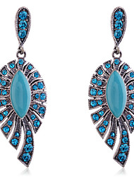Viseće naušnice luksuzni nakit Europska Kristal Smola imitacija Diamond Legura Plava Jewelry Za Party Dnevno Kauzalni 2pcs