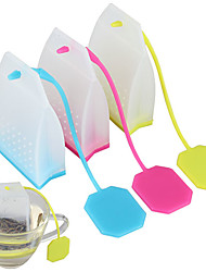 1 Pcs Bag Style Silicone Tea Strainer Herbal Spice Infuser Filter Diffuser(Random Color)