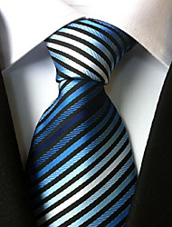 cheap -Men's Polyester Neck Tie,Vintage Cute Party Work Casual Striped All Seasons Rainbow