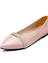 cheap -Women's Shoes Flat Heel Comfort / Pointed Toe Flats Outdoor / Office & Career / Dress Black / Pink / Purple / Beige