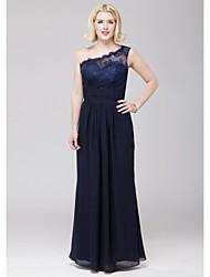 vestito dalla damigella d'onore della spalla di un pavimento-il merletto chiffon sleeveless elegante da thstylee