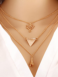 cheap -Women's Layered Necklace - Fashion Gold Necklace For Daily