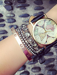cheap -Vintage Womens Watch Map Wood Unisex Watches,Gifts For Her,Birthday Gift Cool Watches Unique Watches Strap Watch