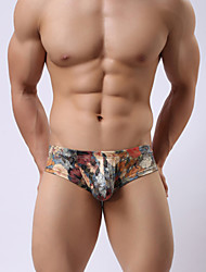 cheap -Men's Super Sexy Briefs Underwear - Print, Floral 1box