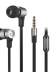 alto auricolare stereo in ear metallo cuffie da 3,5 mm in vivavoce con microfono auricolari per lettori samsung iphone