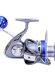 Moulinet pour pêche Moulinet spinnerbaits 5.5:1 9 Roulements à billes EchangeablePêche en mer Pêche aux spinnerbaits Pêche aux jigs Pêche