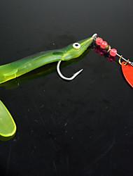 "10 pc Esche morbide Esca Esche morbide Cucchiai Verde Colori assortiti g/Oncia,180 mm/2-1/2"" pollice,Plastica morbida MetalloPesca di"